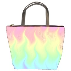 Pastel Rainbow Flame Ombre Bucket Bag by SpinnyChairDesigns