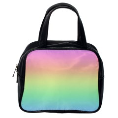 Pastel Rainbow Ombre Classic Handbag (one Side) by SpinnyChairDesigns