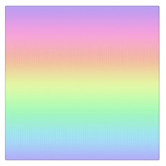 Pastel Rainbow Ombre Large Satin Scarf (square)