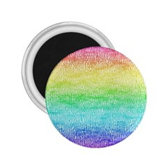 Rainbow Ombre Texture 2 25  Magnets by SpinnyChairDesigns