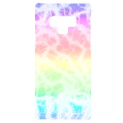 Pastel Rainbow Tie Dye Samsung Note 9 Black Uv Print Case  by SpinnyChairDesigns