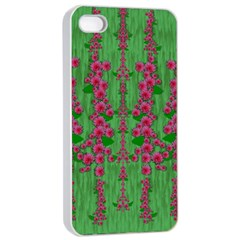 Lianas Of Sakura Branches In Contemplative Freedom Iphone 4/4s Seamless Case (white)