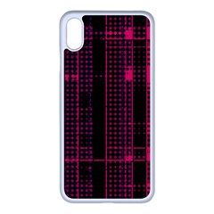 Pink Black Punk Plaid Iphone Xs Max Seamless Case (white) by SpinnyChairDesigns