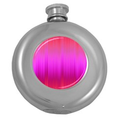Fuchsia Ombre Color  Round Hip Flask (5 Oz) by SpinnyChairDesigns