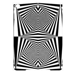 Black And White Stripes Apple Ipad Pro 9 7   Black Uv Print Case by SpinnyChairDesigns