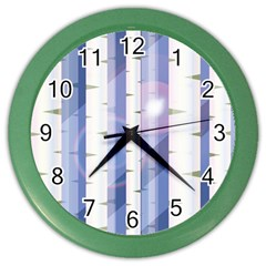 Birch Tree Forest Digital Color Wall Clock
