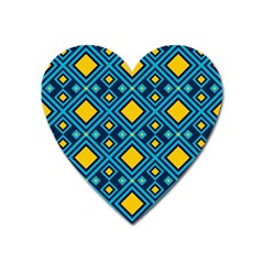 Geometric Abstract Diamond Heart Magnet by tmsartbazaar