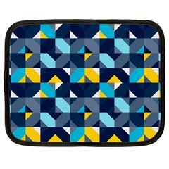 Geometric Hypnotic Shapes Netbook Case (large) by tmsartbazaar