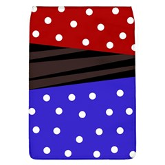 Mixed Polka Dots And Lines Pattern, Blue, Red, Brown Removable Flap Cover (l)