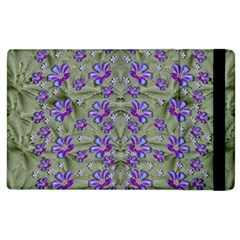 Flowers Everywhere And Anywhere In A Collage Apple Ipad 2 Flip Case by pepitasart
