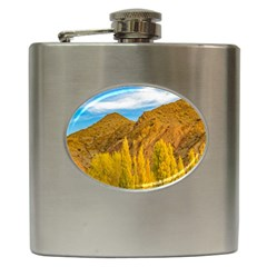 El Leoncito National Park, San Juan Province, Argentina Hip Flask (6 Oz) by dflcprintsclothing