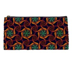 Trippy Teal & Orange Mandala Pattern  Pencil Case