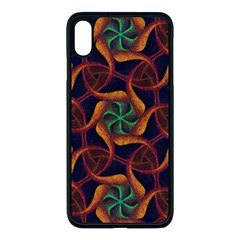 Trippy Teal & Orange Mandala Pattern  Iphone Xs Max Seamless Case (black)