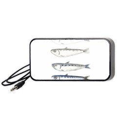 Pencil Fish Sardine Drawing Portable Speaker