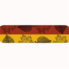 Autumn Leaves Colorful Nature Large Bar Mats