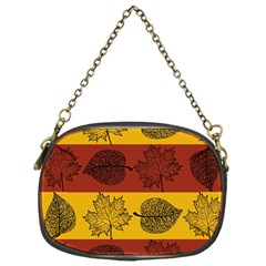 Autumn Leaves Colorful Nature Chain Purse (one Side) by Mariart