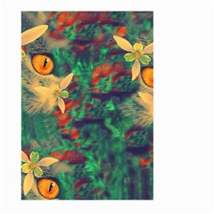 Illustrations Color Cat Flower Abstract Textures Orange Large Garden Flag (two Sides) by Alisyart