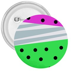Dots And Lines, Mixed Shapes Pattern, Colorful Abstract Design 3  Buttons by Casemiro