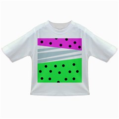 Dots And Lines, Mixed Shapes Pattern, Colorful Abstract Design Infant/toddler T-shirts by Casemiro