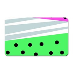 Dots And Lines, Mixed Shapes Pattern, Colorful Abstract Design Magnet (rectangular) by Casemiro