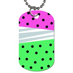 Dots And Lines, Mixed Shapes Pattern, Colorful Abstract Design Dog Tag (two Sides) by Casemiro