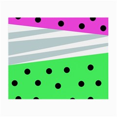 Dots And Lines, Mixed Shapes Pattern, Colorful Abstract Design Small Glasses Cloth by Casemiro