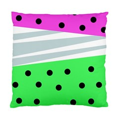 Dots And Lines, Mixed Shapes Pattern, Colorful Abstract Design Standard Cushion Case (one Side) by Casemiro