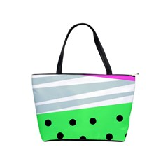 Dots And Lines, Mixed Shapes Pattern, Colorful Abstract Design Classic Shoulder Handbag by Casemiro