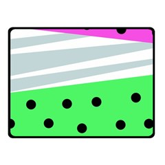 Dots And Lines, Mixed Shapes Pattern, Colorful Abstract Design Fleece Blanket (small) by Casemiro