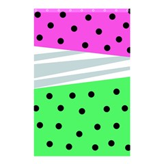 Dots And Lines, Mixed Shapes Pattern, Colorful Abstract Design Shower Curtain 48  X 72  (small)  by Casemiro