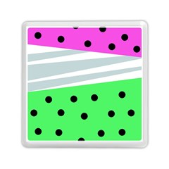 Dots And Lines, Mixed Shapes Pattern, Colorful Abstract Design Memory Card Reader (square) by Casemiro