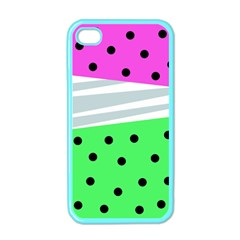 Dots And Lines, Mixed Shapes Pattern, Colorful Abstract Design Iphone 4 Case (color) by Casemiro