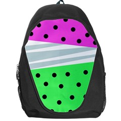 Dots And Lines, Mixed Shapes Pattern, Colorful Abstract Design Backpack Bag by Casemiro