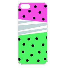 Dots And Lines, Mixed Shapes Pattern, Colorful Abstract Design Iphone 5 Seamless Case (white) by Casemiro