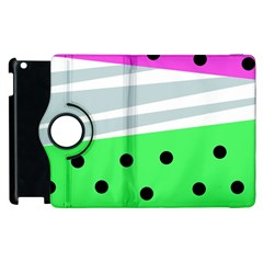 Dots And Lines, Mixed Shapes Pattern, Colorful Abstract Design Apple Ipad 3/4 Flip 360 Case by Casemiro