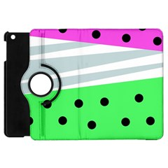 Dots And Lines, Mixed Shapes Pattern, Colorful Abstract Design Apple Ipad Mini Flip 360 Case by Casemiro