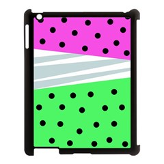 Dots And Lines, Mixed Shapes Pattern, Colorful Abstract Design Apple Ipad 3/4 Case (black) by Casemiro