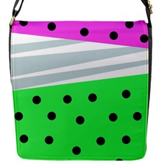 Dots And Lines, Mixed Shapes Pattern, Colorful Abstract Design Flap Closure Messenger Bag (s) by Casemiro