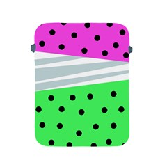 Dots And Lines, Mixed Shapes Pattern, Colorful Abstract Design Apple Ipad 2/3/4 Protective Soft Cases by Casemiro