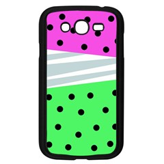 Dots And Lines, Mixed Shapes Pattern, Colorful Abstract Design Samsung Galaxy Grand Duos I9082 Case (black) by Casemiro