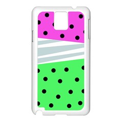 Dots And Lines, Mixed Shapes Pattern, Colorful Abstract Design Samsung Galaxy Note 3 N9005 Case (white) by Casemiro