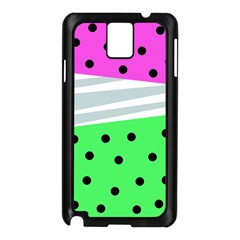 Dots And Lines, Mixed Shapes Pattern, Colorful Abstract Design Samsung Galaxy Note 3 N9005 Case (black) by Casemiro