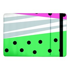Dots And Lines, Mixed Shapes Pattern, Colorful Abstract Design Samsung Galaxy Tab Pro 10 1  Flip Case by Casemiro