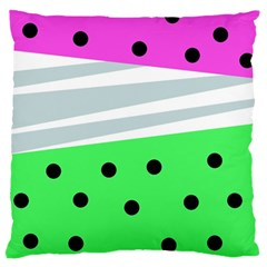 Dots And Lines, Mixed Shapes Pattern, Colorful Abstract Design Standard Flano Cushion Case (one Side) by Casemiro