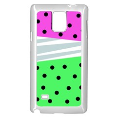 Dots And Lines, Mixed Shapes Pattern, Colorful Abstract Design Samsung Galaxy Note 4 Case (white) by Casemiro