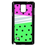 Dots and lines, mixed shapes pattern, colorful abstract design Samsung Galaxy Note 4 Case (Black) Front
