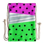 Dots and lines, mixed shapes pattern, colorful abstract design Drawstring Bag (Large) Back