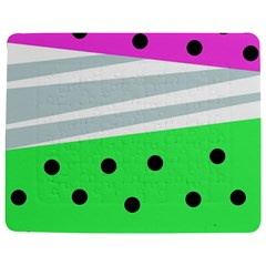 Dots And Lines, Mixed Shapes Pattern, Colorful Abstract Design Jigsaw Puzzle Photo Stand (rectangular) by Casemiro