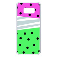 Dots And Lines, Mixed Shapes Pattern, Colorful Abstract Design Samsung Galaxy S8 Plus White Seamless Case by Casemiro
