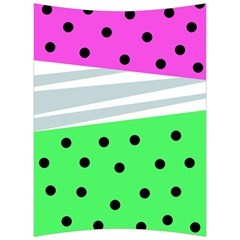 Dots And Lines, Mixed Shapes Pattern, Colorful Abstract Design Back Support Cushion by Casemiro